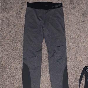 Grey Nike Pro Leggings